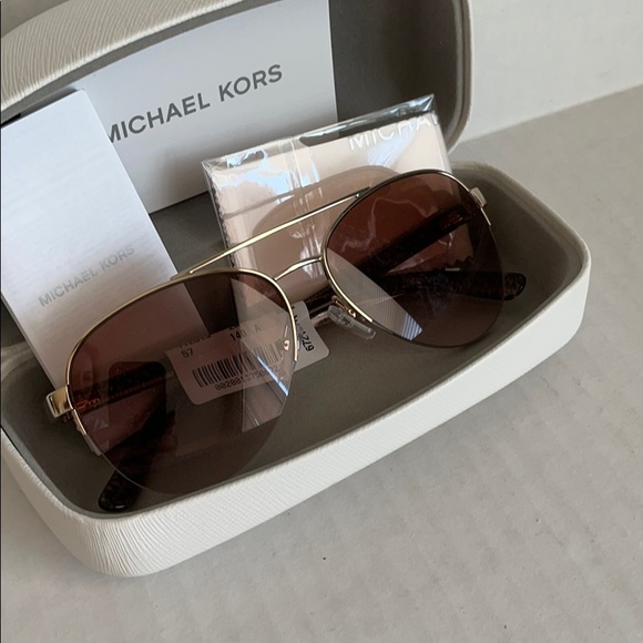 Authentic Michael Kors Blair Aviator Sunglasses